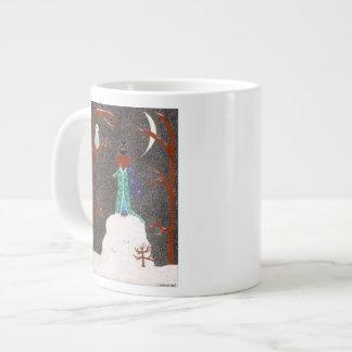 Dachshund de la nieve taza de café grande