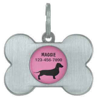 Dachshund de las etiquetas de perro casero placa mascota