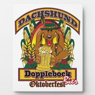 Dachshund de Oktoberfest Dopplebock Placas De Madera