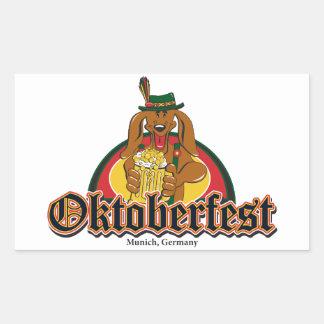 Dachshund de Oktoberfest Pegatina Rectangular