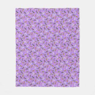 Dachshund de Pascua (púrpura) Manta De Forro Polar