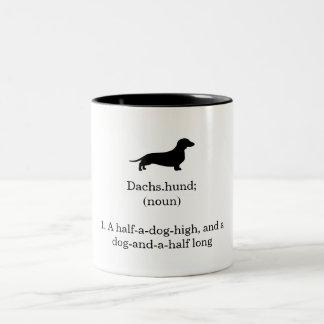 Dachshund Defintion Two-Tone Coffee Mug