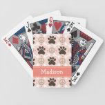 Dachshund del amor de la paz baraja de cartas