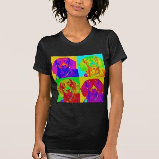 Dachshund del arte de Op. Sys. Camisetas