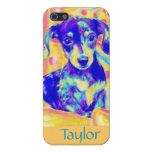 dachshund del arte pop iPhone 5 carcasas