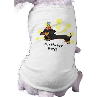 Dachshund del cumpleaños (capa lisa) ropa de mascota