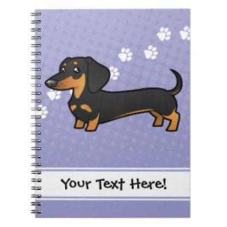 Dachshund del dibujo animado (capa lisa) notebook