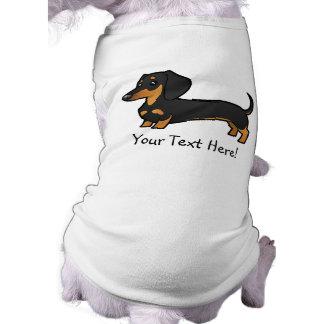 Dachshund del dibujo animado (capa lisa) playera sin mangas para perro