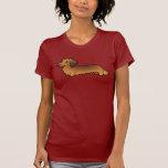 Dachshund del dibujo animado (de pelo largo) camiseta
