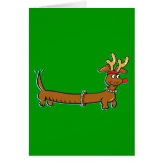 Dachshund del navidad tarjeta de felicitación