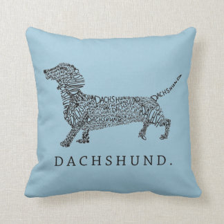 Dachshund Design Throw Pillow