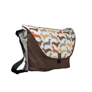 Dachshund Designer Rickshaw Messenger Bag