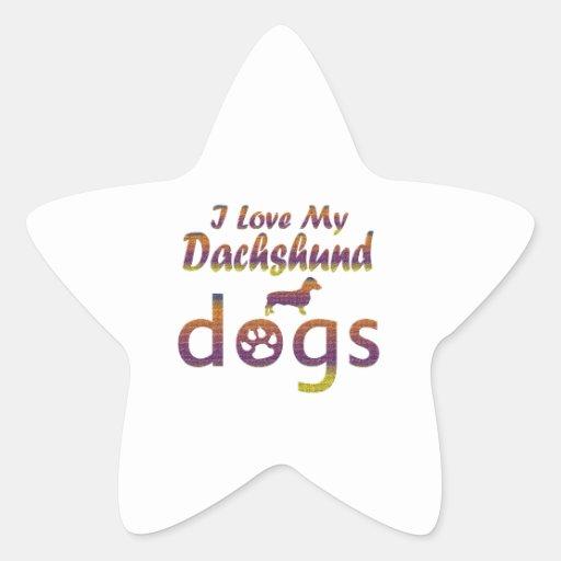 Dachshund designs stickers