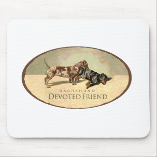 Dachshund..Devoted Friend Mouse Pad