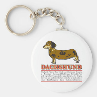 Dachshund Dictionary Basic Round Button Keychain