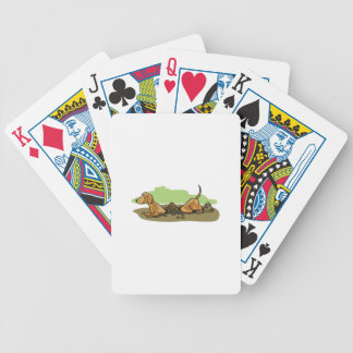 DACHSHUND DIGGING BICYCLE PLAYING CARDS