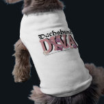 """Dachshund DIVA Tee<br><div class=""""desc"""">Show the World that YOU are a PROUD Dachshund Dog Owner!  This DIVA design is embellished with a dog collar and Pink Paw Prints. Click on the Design to View ALL the Versions!</div>"""
