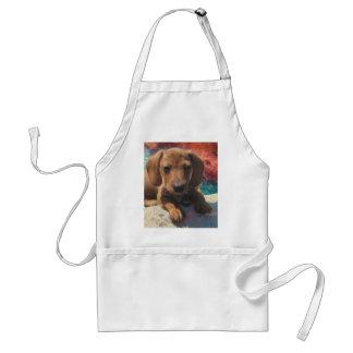 Dachshund - Dog Art - Painting - Pet Portrait Adult Apron