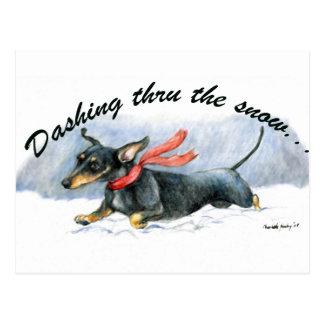 Dachshund Dog Art Postcard
