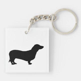 Dachshund dog beautiful black silhouette, gift keychain