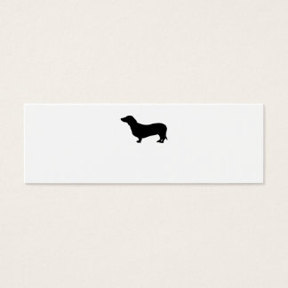 Dachshund dog black silhouette cute blank custom mini business card