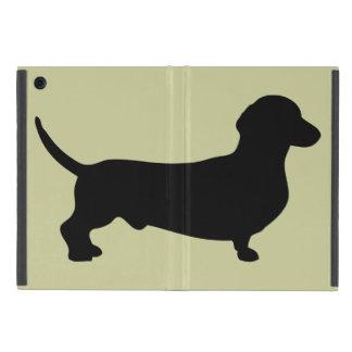 Dachshund dog black silhouette cute doxie covers for iPad mini