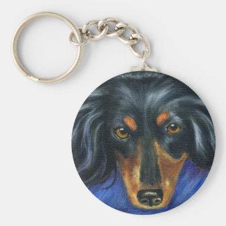 Dachshund Dog Breed Art - Hallie Keychains
