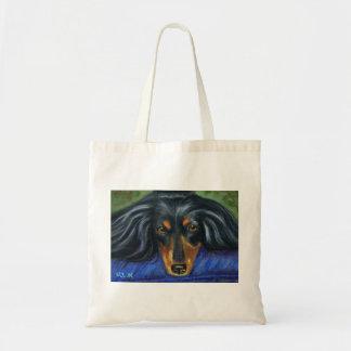 Dachshund Dog Breed Art - Hallie Tote Bag