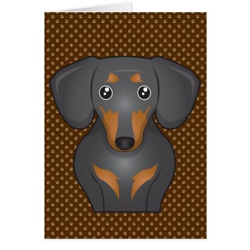 Dachshund Dog Cartoon Paws Cards