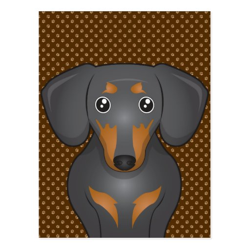Dachshund Dog Cartoon Paws Postcards