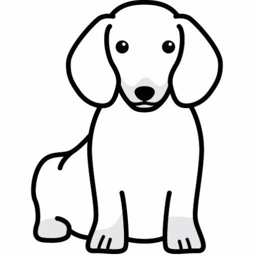 Dachshund Dog Cartoon Photo Cut Out