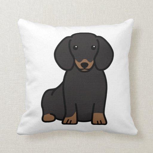 Dachshund Dog Cartoon Pillow