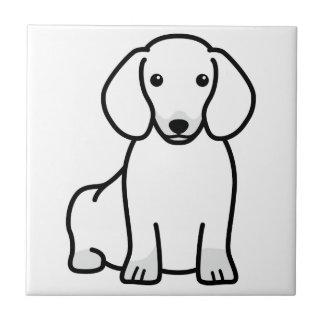Dachshund Dog Cartoon Tile