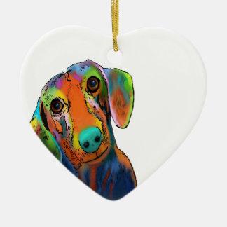 Dachshund Dog Ceramic Ornament
