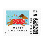 Dachshund Dog Christmas Winter Holiday Postage