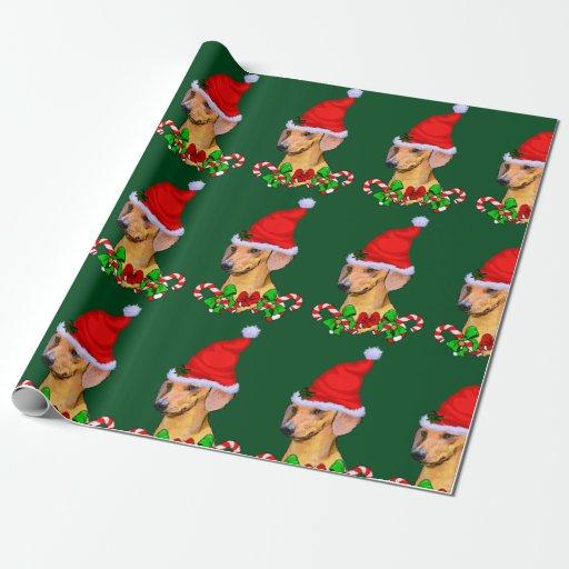 Dachshund Dog Christmas Wrapping Paper Zazzle