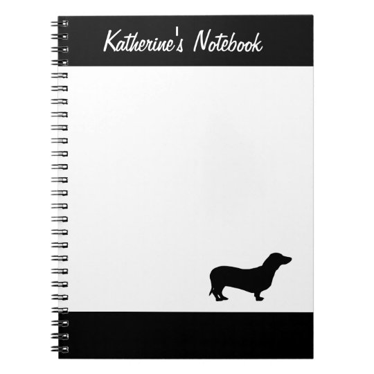 Dachshund dog custom name notebook