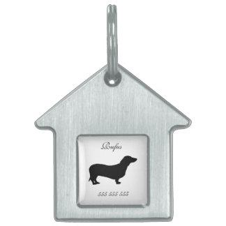 Dachshund dog custom name & phone no. dog id tag