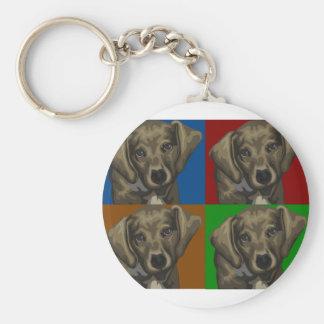 Dachshund Dog Dark Collage Basic Round Button Keychain
