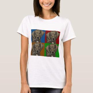 Dachshund Dog Dark Collage T-Shirt