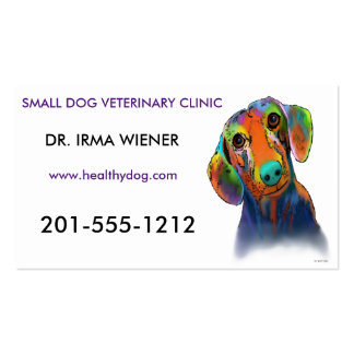 Dachshund Dog Double-Sided Standard Business Cards (Pack Of 100)