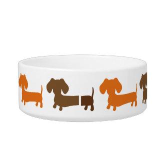 Dachshund Dog Food Dish Water Bowl