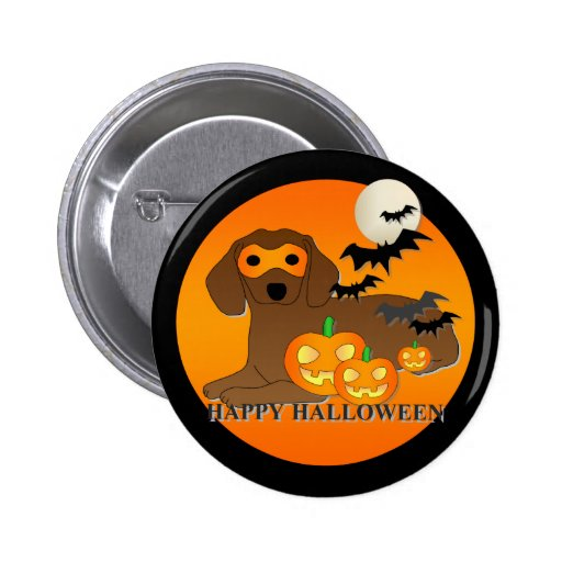 Dachshund Dog Halloween 2 Inch Round Button