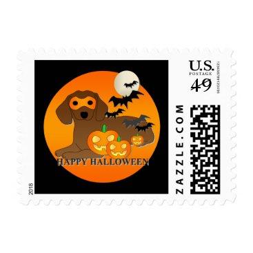 Halloween Themed Dachshund Dog Halloween Postage