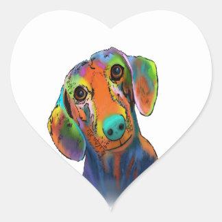 Dachshund Dog Heart Sticker