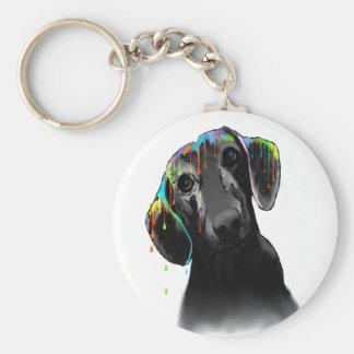 Dachshund Dog Basic Round Button Keychain