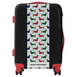 Dachshund Dog Lover Whimsical Personalized Luggage