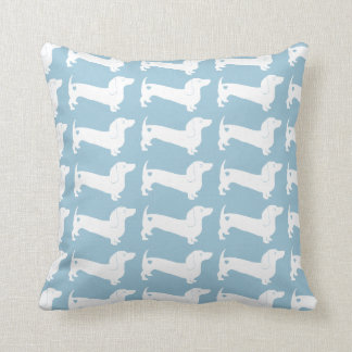 Dachshund Dog Pattern Throw Pillow