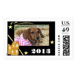 Dachshund dog postage