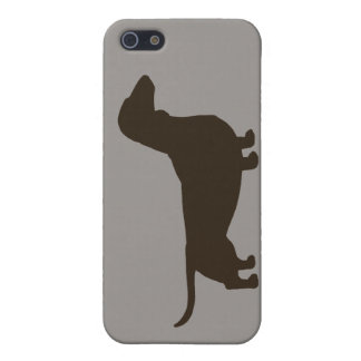 Dachshund Dog Silhouette Cover For iPhone SE/5/5s